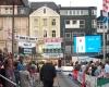 Marktplatzspringen Stabhochsprung Recklinghausen Werbung Sponsoren Anzeigetafel LED-Fläche Videowall