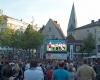 Public Viewing Fußball EM Europameisterschaft LED-Fläche Videowall
