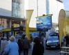 Roadshow Autohaus Opel Innenstadt Werbung LED-Fläche Videowall