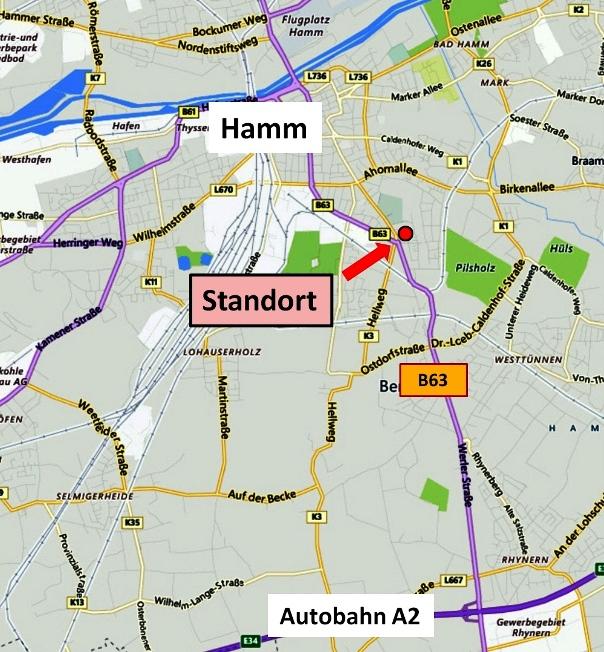 Standort Hamm LED-Fläche Videoboard Werbung